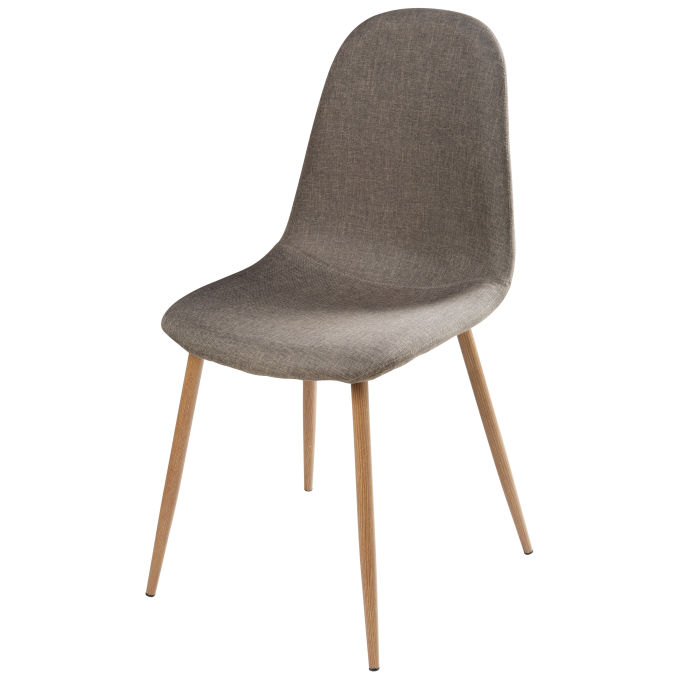 Chaise Style Scandinave Grise Clyde