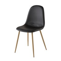 Chaise Style Scandinave Noire Clyde