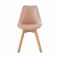 Chaise Style Scandinave Rose Poudr Et Chne Massif Ice