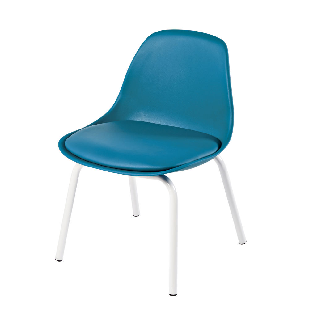 Chaise vintage enfant bleue Piccoli (photo)
