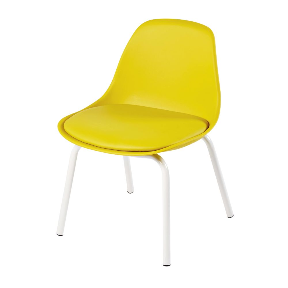 Chaise vintage enfant jaune Piccoli (photo)