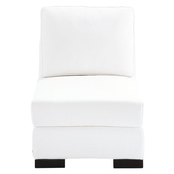 chauffeuse en cuir blanche l 62 cm terence vendu par maisons du monde france 2691488. Black Bedroom Furniture Sets. Home Design Ideas
