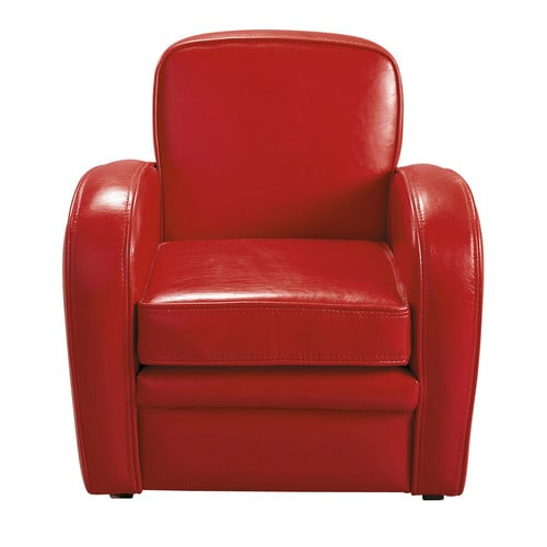 Child's club armchair in red