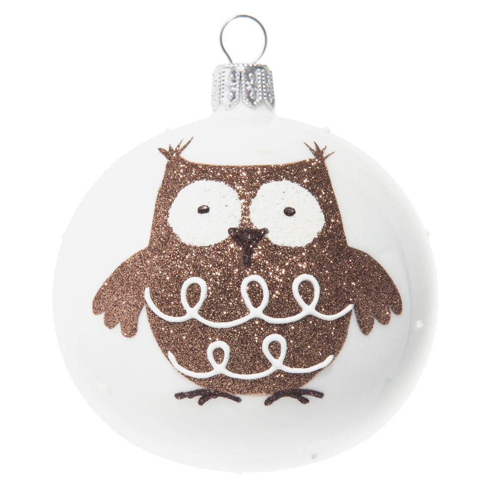 CHOUETTE glass Christmas bauble, 7 cm