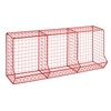 CIRCUIT Red Metal Wire 3-Compartment Locker