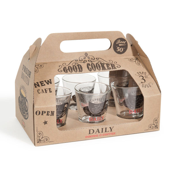 Coffret 6 verres à café Good cooker