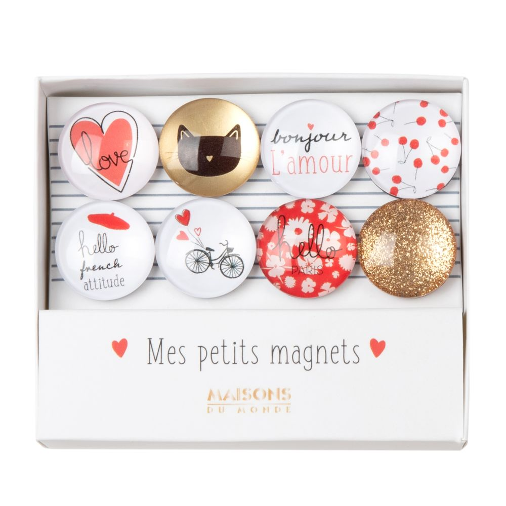 Coffret 8 magnets (photo)