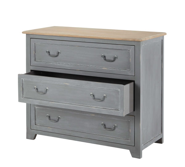 Commode 3 tiroirs grise Honorine
