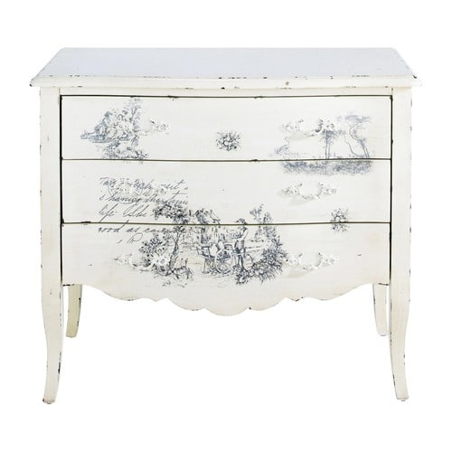 commode blanche ivoire amboise maisons du monde. Black Bedroom Furniture Sets. Home Design Ideas