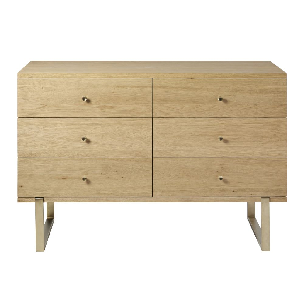 Commode double 6 tiroirs L130 Karla
