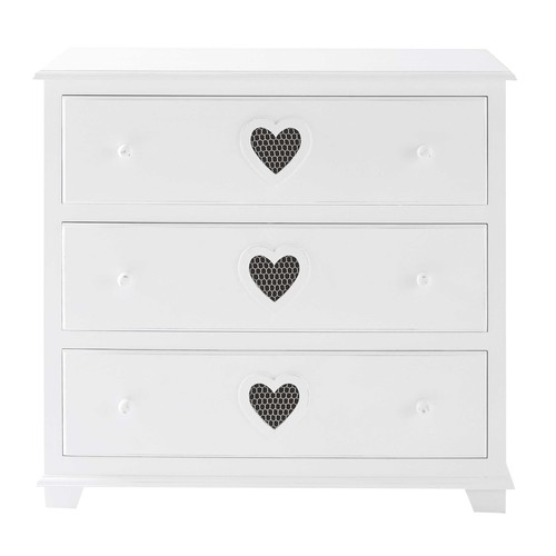 commode en bois blanc l 90 cm valentine maisons du monde. Black Bedroom Furniture Sets. Home Design Ideas