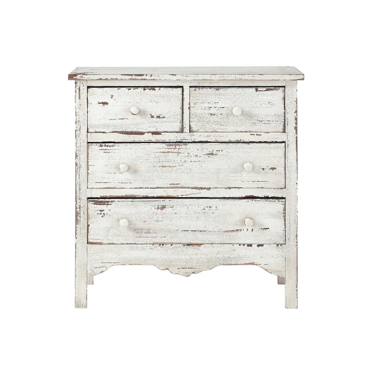 commode en bois blanche effet vieilli l 77 cm maisons du monde. Black Bedroom Furniture Sets. Home Design Ideas