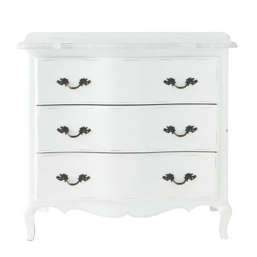 commode en bois blanche l 85 cm sophie maisons du monde. Black Bedroom Furniture Sets. Home Design Ideas