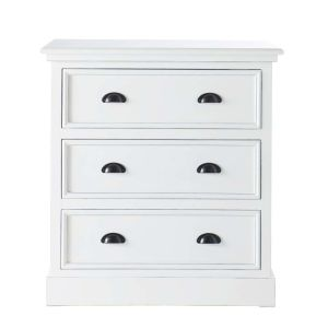 Commode en pin blanc L 80 cm