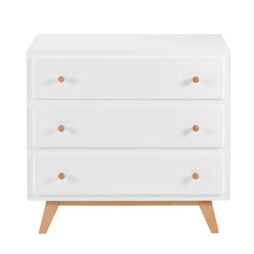 Commode vintage 3 tiroirs blanche
