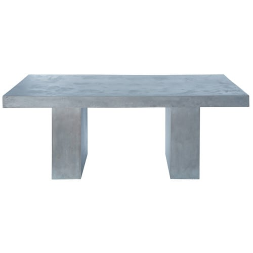 Concrete effect magnesia table in light grey w 200cm - Table basse beton maison du monde ...
