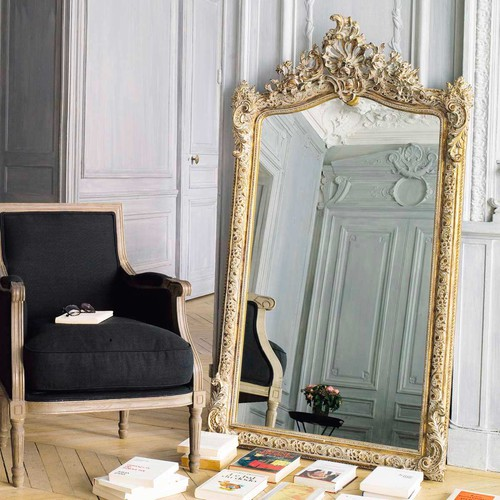 Conservatoire golden resin mirror h 153cm maisons du monde for Maison de monde uk