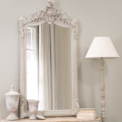conservatory resin mirror grey h 153cm maisons du monde. Black Bedroom Furniture Sets. Home Design Ideas