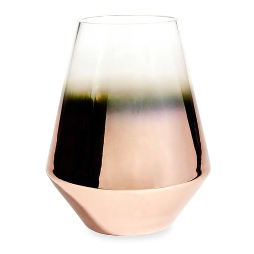 copper copper glass vase h 21 cm maisons du monde. Black Bedroom Furniture Sets. Home Design Ideas