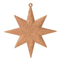 Copper Glitter Star Christmas Hanging Decoration Copper