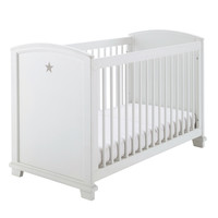 Cot in white star pattern W 131 Pastel