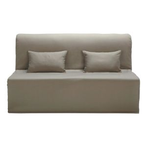 Cotton Z-bed sofa cover in taupe