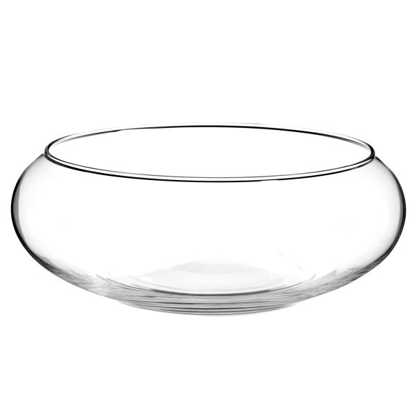 Coupe à bougie flottante en verre H 8 cm (photo)