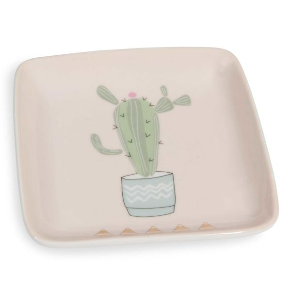 Coupelle en porcelaine rose CACTUS