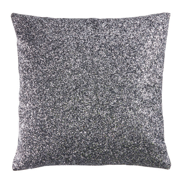 Coussin à paillettes grises 42x42 (photo)