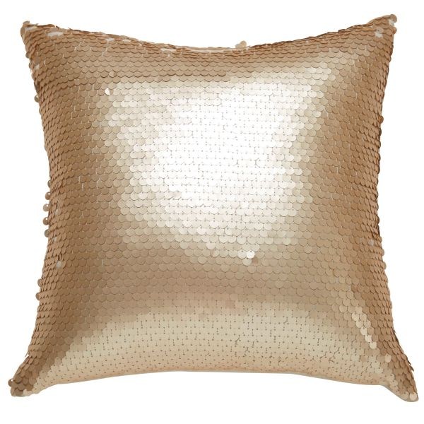Coussin à sequins 45x45cm ISAURE (photo)