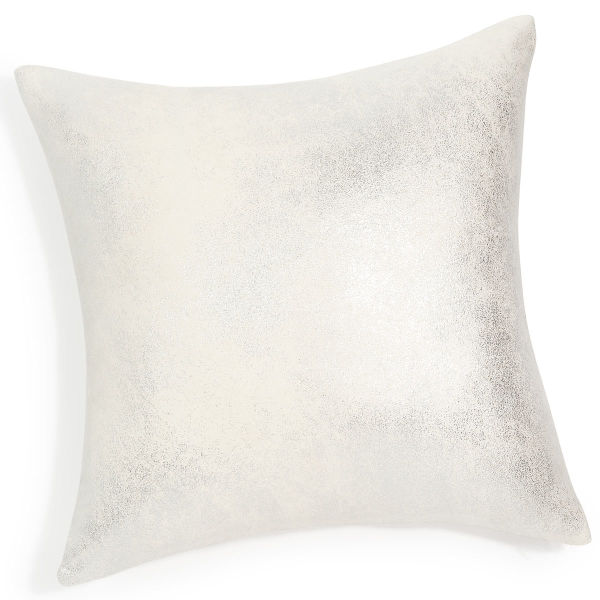 Coussin argenté 40 x 40 cm SILPOWER (photo)