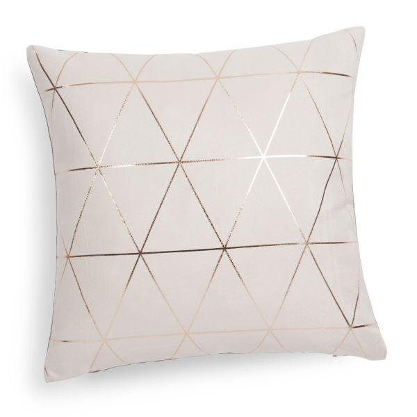 Coussin beige/or 40x40 QUEENS (photo)