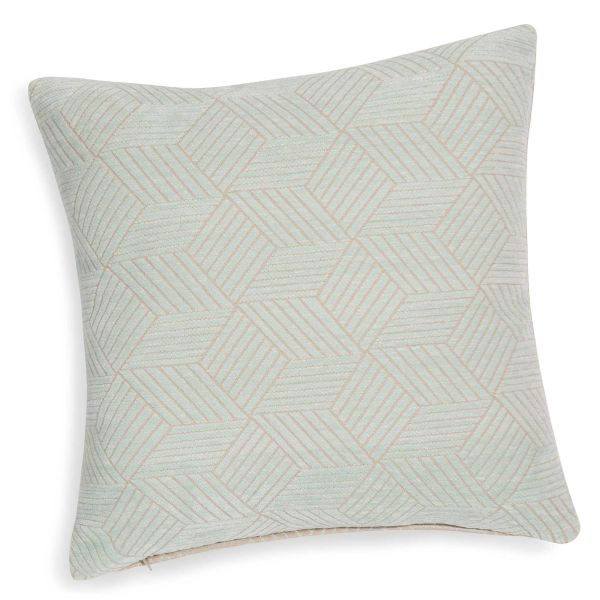 Coussin bleu 40 x 40 cm HALEIGH (photo)