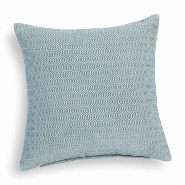 Coussin bleu 45 x 45 cm JOBS (photo)