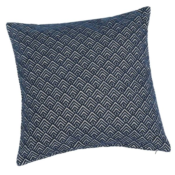 Coussin bleu 45 x 45 cm STEVES (photo)