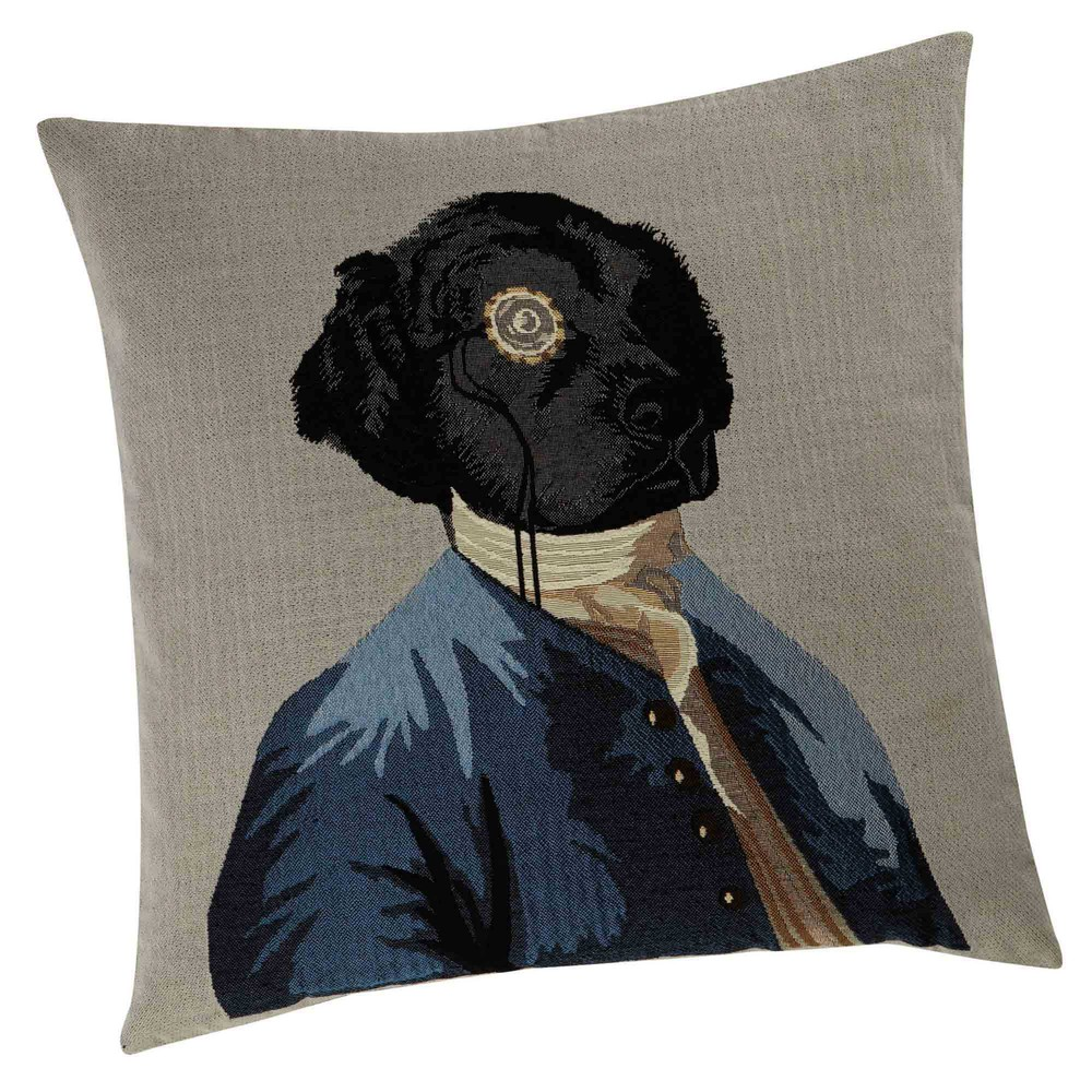 Coussin chien 45 x 45 cm CHARLES (photo)