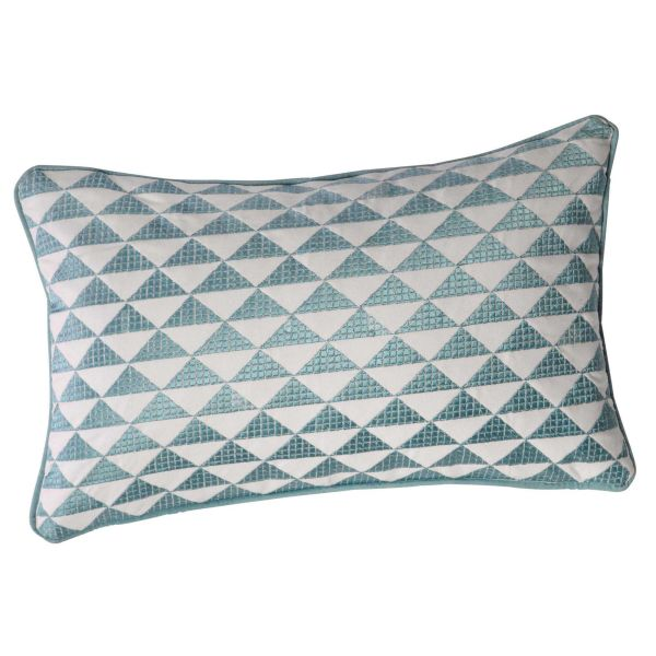 Coussin en coton bleu 30 x 50 cm MIX (photo)