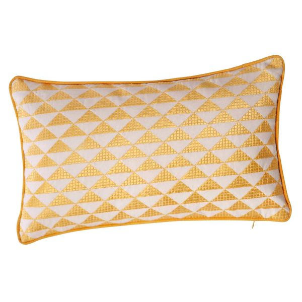 Coussin en coton jaune 30 x 50 cm MIX (photo)