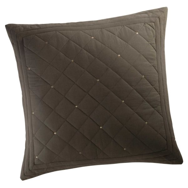 Coussin en coton marron 60 x 60 cm DIDEROT (photo)