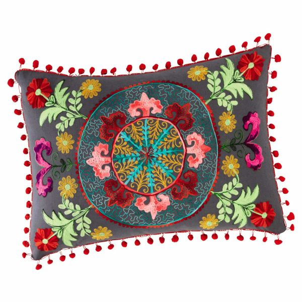 Coussin en coton multicolore 30 x 50 cm HIASCIO (photo)