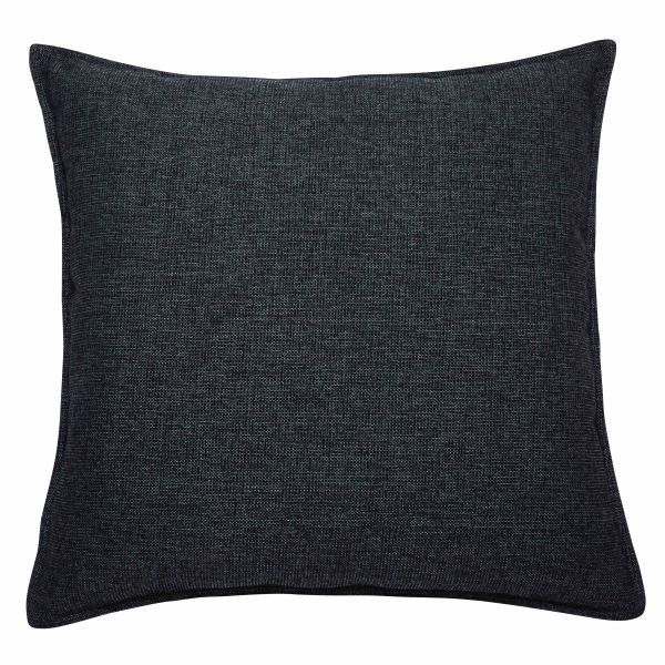 coussin en tissu gris charbon 60x60cm chenille le fait main. Black Bedroom Furniture Sets. Home Design Ideas