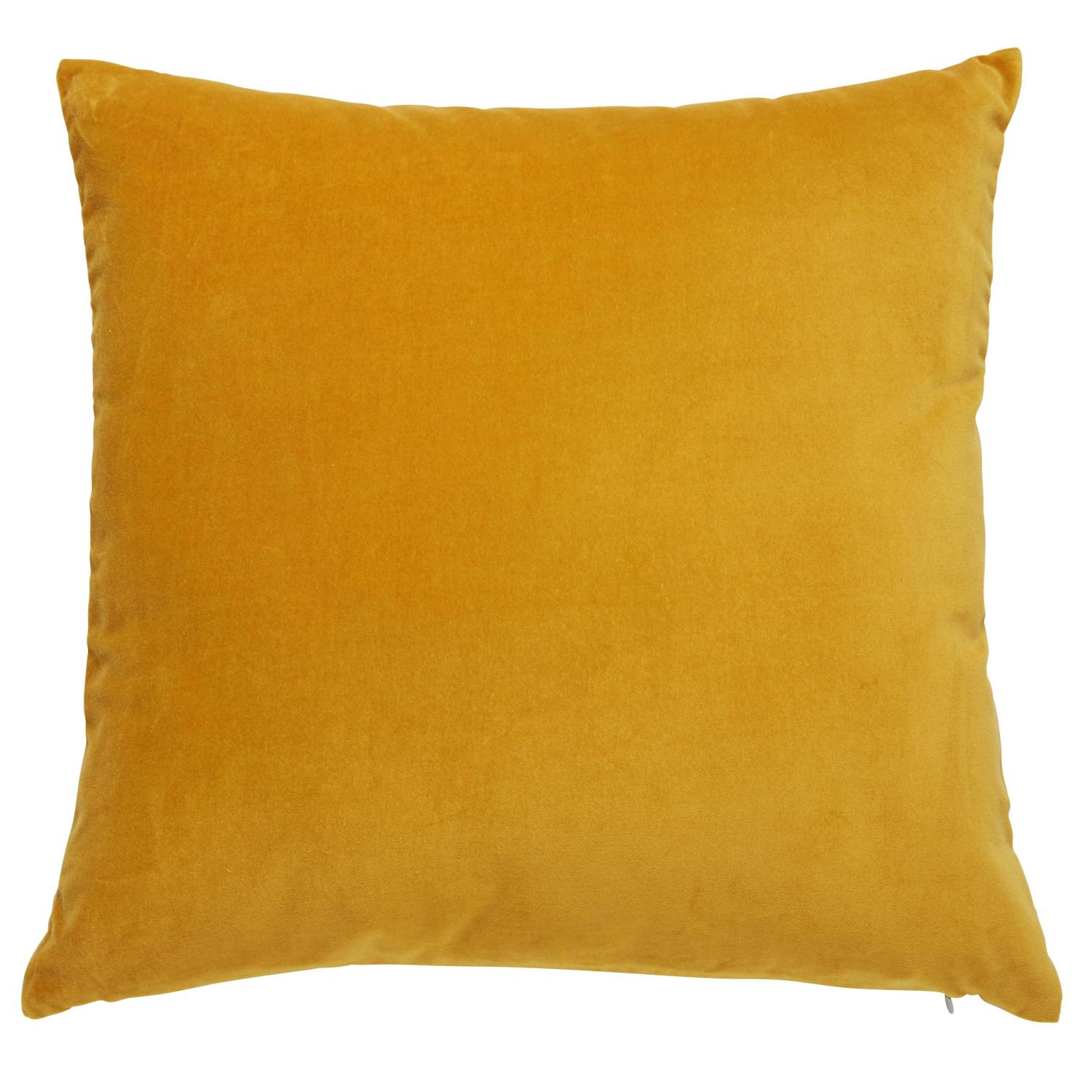 coussin en velours jaune moutarde 45x45cm maisons du monde. Black Bedroom Furniture Sets. Home Design Ideas
