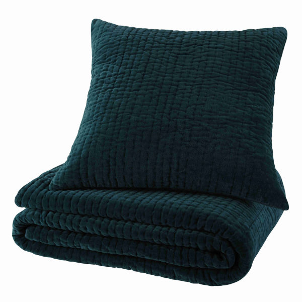 coussin en velours piqu bleu 60 x 60 cm aqua le fait main. Black Bedroom Furniture Sets. Home Design Ideas
