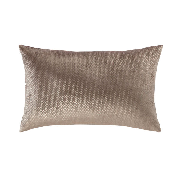 Coussin en velours taupe 30 x 50 cm ORIDORE