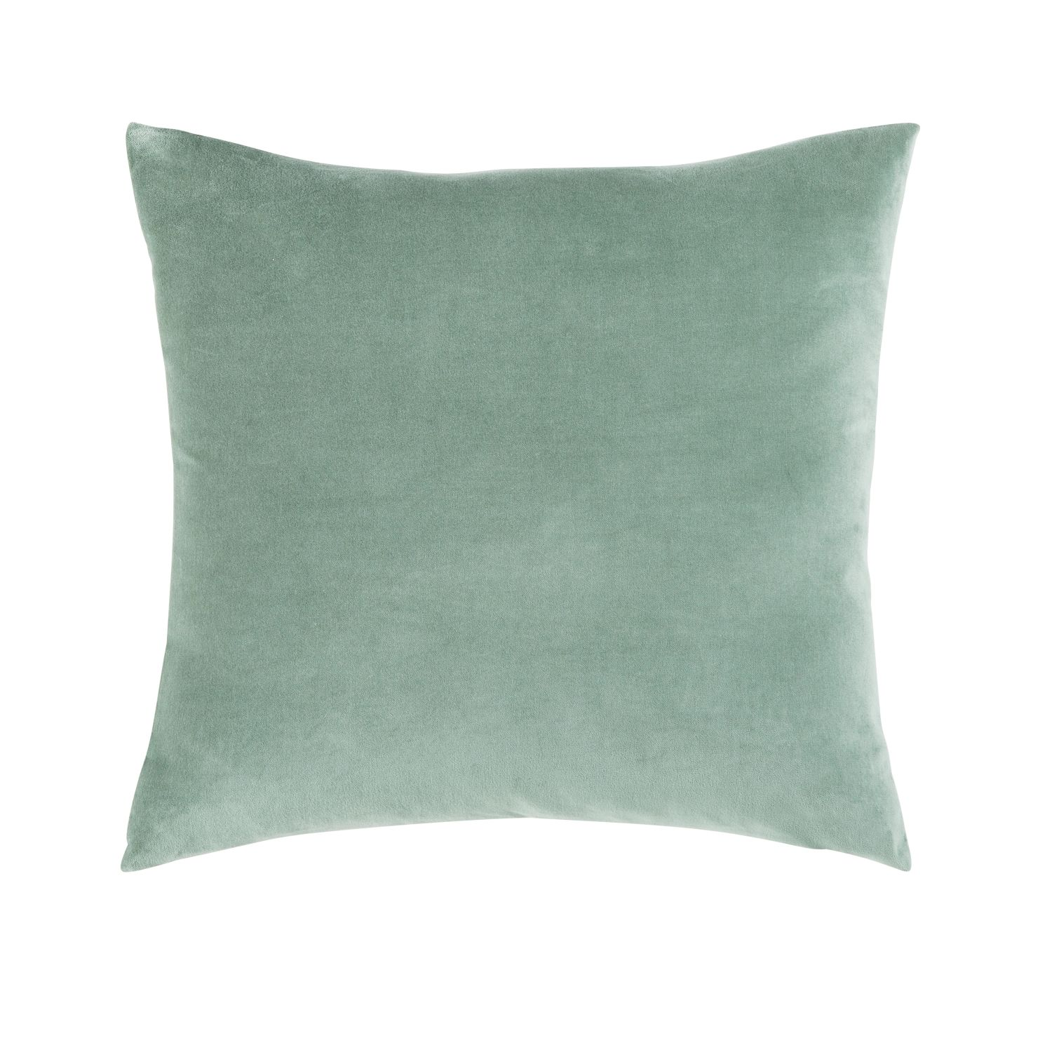 coussin en velours vert tilleul 45x45 maisons du monde. Black Bedroom Furniture Sets. Home Design Ideas