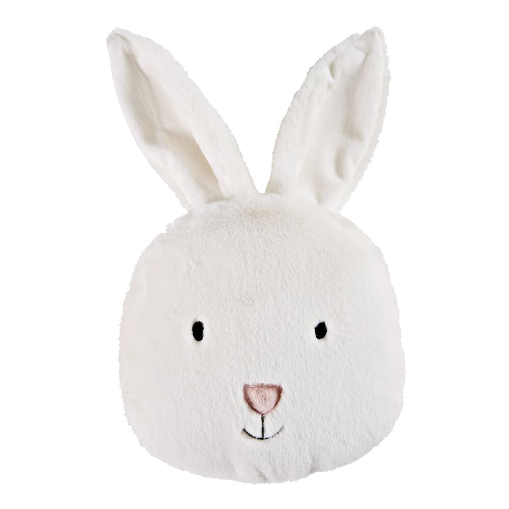 Coussin lapin blanc 23x25 (photo)