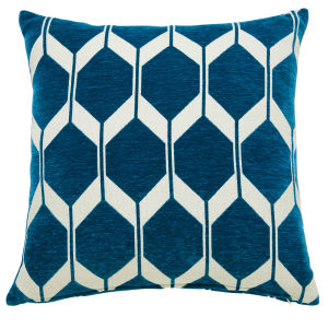 coussin motifs bleu canard 45x45 maisons du monde. Black Bedroom Furniture Sets. Home Design Ideas