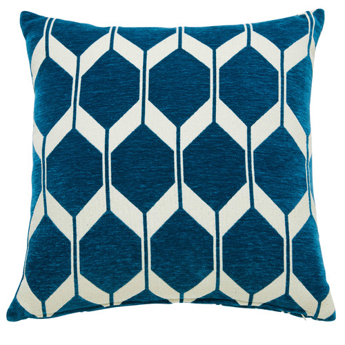 coussin motifs bleu canard 45x45cm aston maisons du monde. Black Bedroom Furniture Sets. Home Design Ideas
