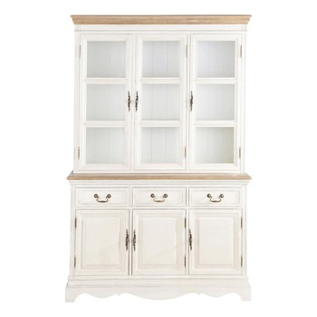 best cream china cabinet lontine with josephine maison du monde