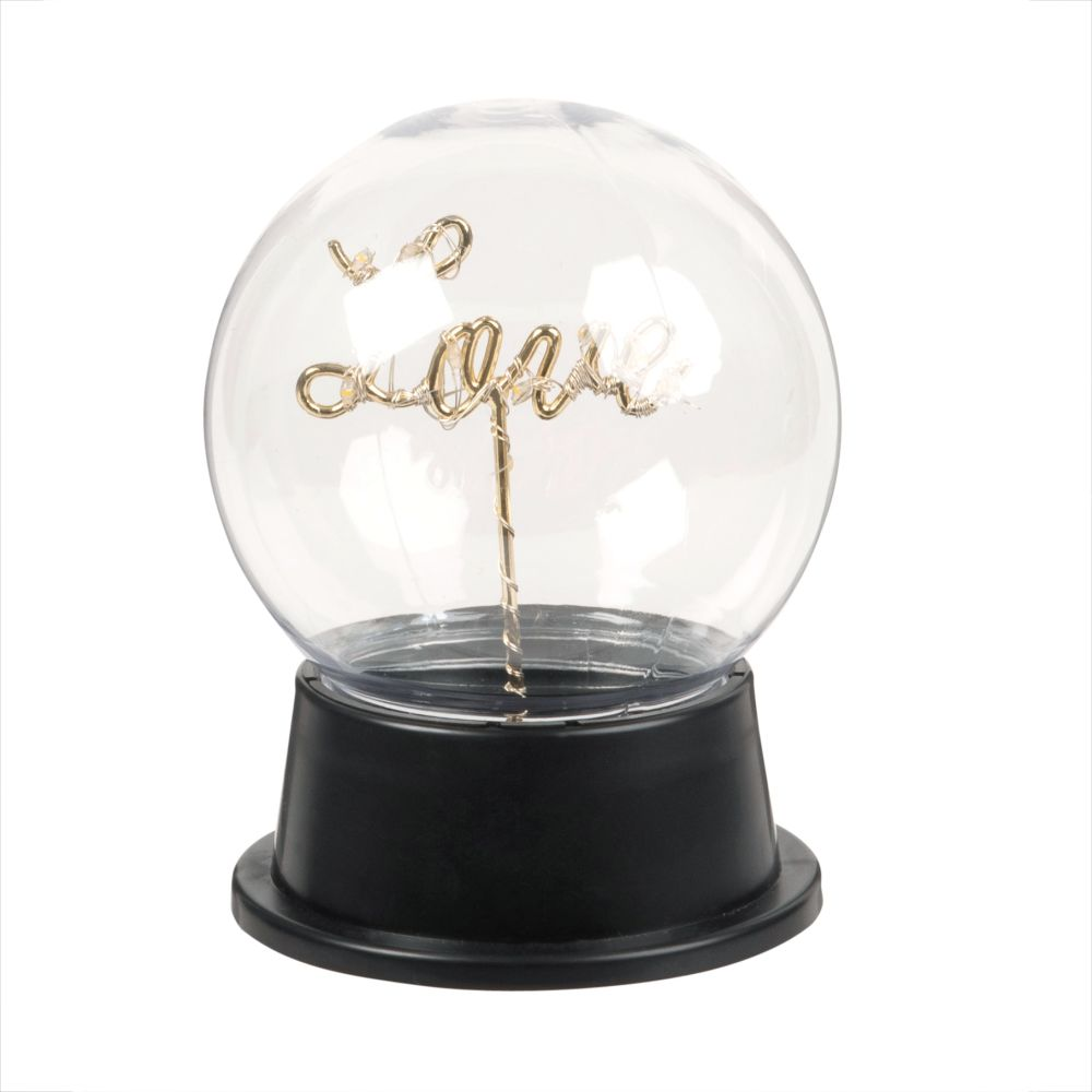 Déco lumineuse LED message love socle noir (photo)